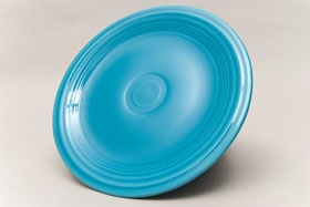 Vintage Fiesta Turquoise 10 Inch Dinner Plate  Fiestaware Pottery