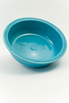 Turquoise Vintage Fiesta 9 inch nappy bowl Fiestaware For Sale Old Authentic