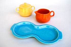 Fiesta Vintage Turquoise Figure 8 Tray: Fiestaware For Sale
