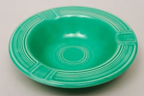 Vintage Fiesta Pottery  Early Variation Ashtray in Original Green for Sale
