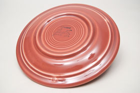 Vintage Fiesta Rose 7 Inch Plate  Fiestaware Pottery Vase: Gift, Rare, Hard to Find, Buy Onlline Now, American Antique Pottery