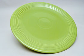 50s Fiestaware 13 inch Chartreuse Chop Plate