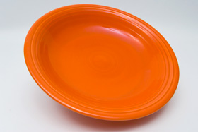 Original Radioactive Red Fiestaware 12 Inch Footed Comport
