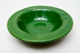 Vintage Fiestaware Forest Green Ashtray: Fiesta Dinnerware 30s 40s 50s 60s For Sale