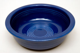 Red Vintage Fiestaware Cobalt Berry Bowl For Sale