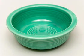 Red Vintage Fiestaware Green Berry Bowl For Sale