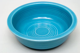 Turquoise Vintage Fiestaware Turquoise Berry Bowl For Sale