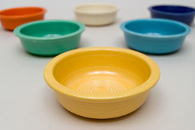 Yellow Vintage Fiestaware Berry Bowl For Sale