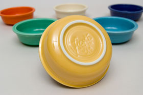 Yellow Vintage Fiestaware Yellow Berry Bowl For Sale