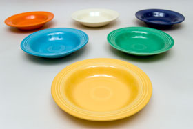 Vintage Fiesta Yellow Deep Plate: Fiestaware Pottery For Sale