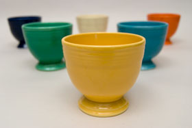 Yellow Vintage Fiesta Egg Cup Fiestaware Pottery For Sale