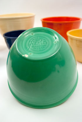 Fiesta No. 5 Green Bowl For Sale