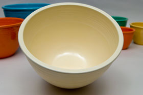 Vintage Fiesta Nesting Bowl Number Six in Original Ivory For Sale