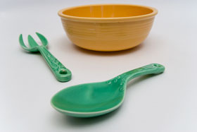 Kitchen Kraft Salad Spoon in Green: Hard to Find Go-Along Fiestaware Pottery For Sale