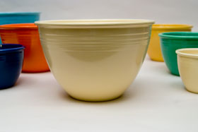 Vintage Fiesta Nesting Bowl Number Seven in Turquoise For Sale