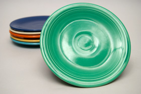 Vintage Fiesatware Plate in Original Green
