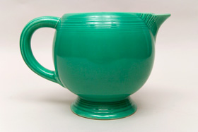 Original Green Fiesta Vintage Ice Lip Pitcher: Fiestaware For Sale