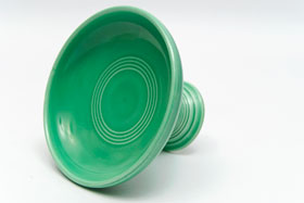 Fiestaware Vintage Original Green Sweets Comport FIesta Pottery For Sale