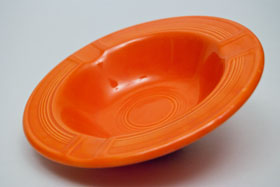 Vintage Fiesta Pottery  Early Variation Ashtray in Original Red for Sale