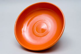 Fiestaware Red Dessert Bowl