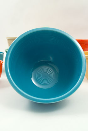 Vintage Fiesta Number Six 6 Turquoise Bowl For Sale
