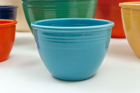 turquoise Vintage Fiesta Number 2 turquoise Nesting Bowl For Sale