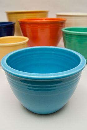 Turquoise Fiesta No. 2 Turquoise Nesting Bowl For Sale