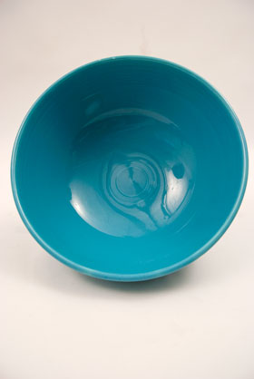 Turquoise Vintage Fiestaware Large Footed Salad Bowl For Sale