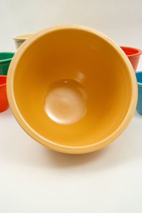 Yellow Vintage Fiesta Mixing Bowl Number 6 Yellow Nesting Bowl For Sale