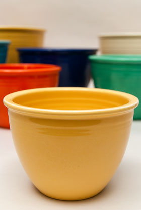 Yellow Number One Fiesta Nesting Bowl For Sale