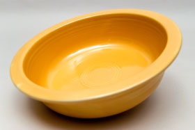 Vintage Fiesta Original Yellow Nappy Vegetable Serving Bowl  Fiestaware Pottery Vase: Gift, Rare, Hard to Find, Buy Onlline Now, American Antique Pottery