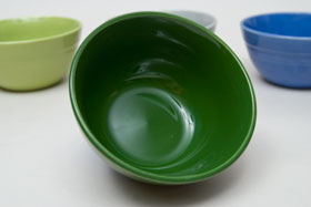 Forest Green Vintage Harlequin 36s Bowl 30s 40s Homer Laughlin American Dinnerware Solid Color Mix-n-Match