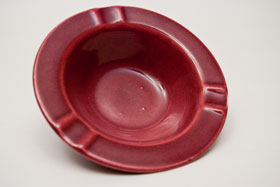 Harlequin Pottery Regular Ashtray in Maroon