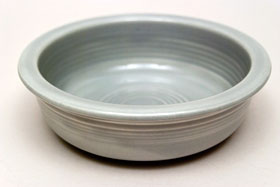 Vintage Fiestaware 50s Gray Fruit Bowl For Sale