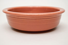 Vintage Fiestaware 50s Rose Fruit Bowl For Sale