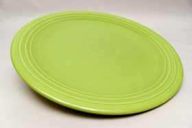50s Fiestaware Large 15 inch  Vintage 50s Chartreuse Chop Plate