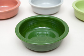 Vintage Fiestaware 50s Forest Green Fruit Bowl For Sale
