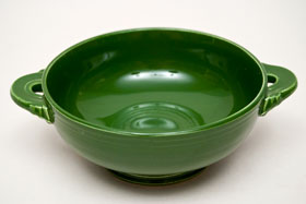 50s Fiestaware Dark Forest Green Fiestaware Cream Soup Bowl