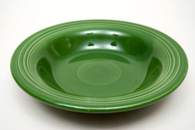 Vintage Fiesta 50s Color Forest Green Deep Plate: Hard to Find Go-Along Fiestaware Pottery For Sale