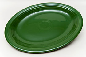 50s Forest Green Vintage Fiesta Large Oval Platter
