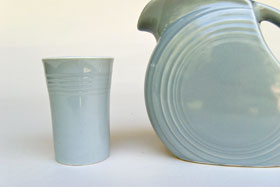 Rare Fiesta Vintage Gray Juice Pitcher 50s Fiestaware For Sale
