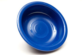 Cobalt Vintage Fiestaware Cobalt Fruit Bowl For Sale