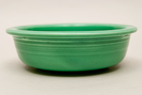 Light Green Vintage Fiestaware Light Green Fruit Bowl For Sale