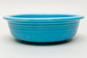 Turquoise Vintage Fiestaware Turquoise Fruit Bowl For Sale