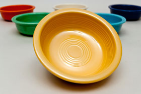 Vintage Fiestaware Yellow Fruit Bowl For Sale