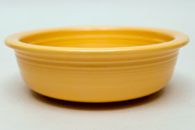 Red Vintage Fiestaware Yellow Fruit Bowl For Sale