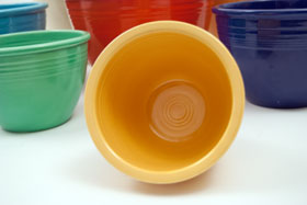 Vintage Fiestaware Number One Yellow Nesting Bowl For Sale