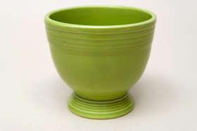 Vintage Fiesta Chartreuse Egg Cup  Fiestaware Pottery Vase: Gift, Rare, Hard to Find, Buy Onlline Now, American Antique Pottery
