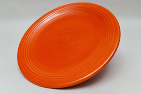 50s Fiestaware 50s red 13inch chop plate