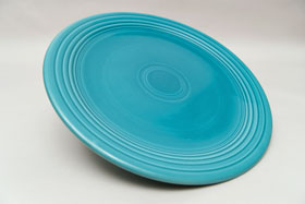 50s Fiestaware original turquoise 13inch chop plate